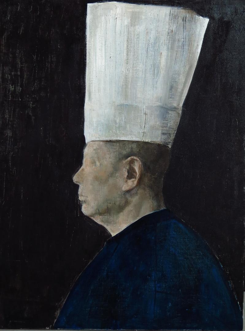 头颅上的白色2 50x60cm 2014年 布面油画