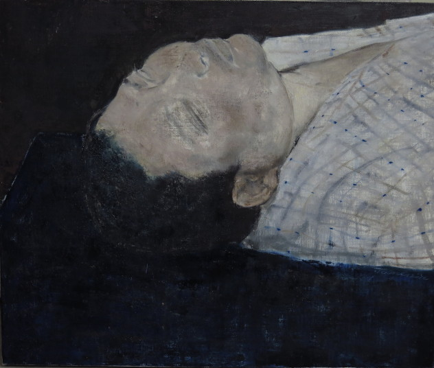 蓝色与头颅 50x60cm 布面油画 2014