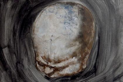 生的愤怒3 25x20cm布面油画 2015年