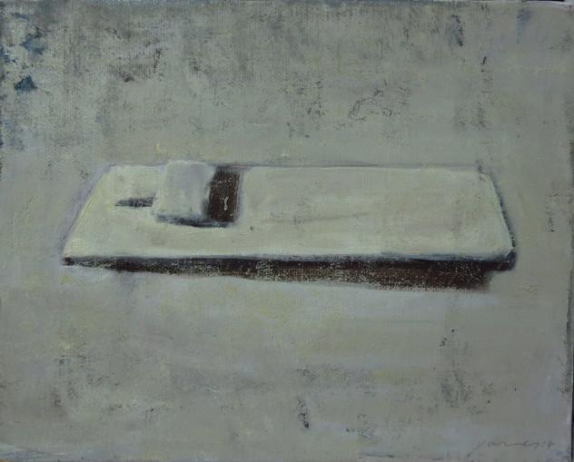 白色物 25x20cm 布面油画 2014