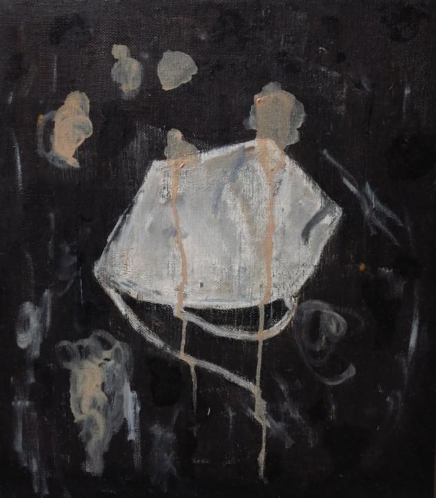 白色物3 35x40cm 2015 布面油画