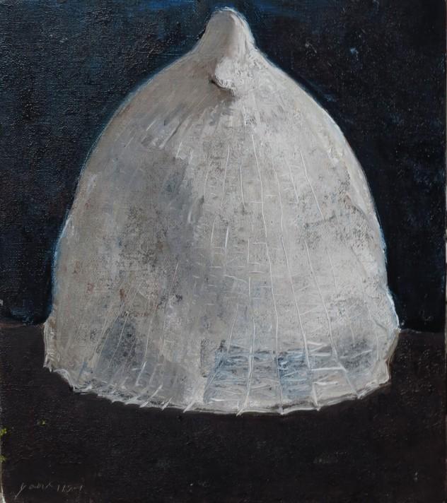 白色物4 35x40cm 2015 布面油画