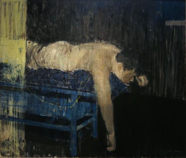 蓝色上的躯体200×170cm 布面油画 2015年