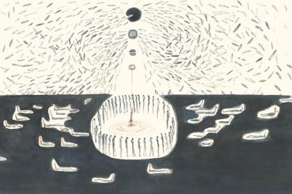 食人集水彩1 25×22cm 2013年
