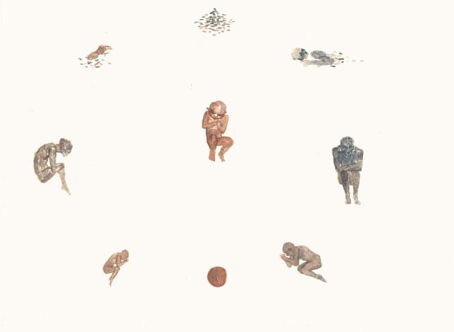 食人集水彩5 25×22cm 2013年
