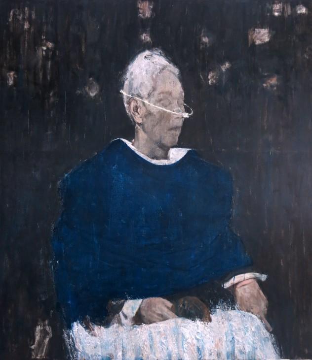 呼吸者肖像1 160×140cm 布面油画 2015年