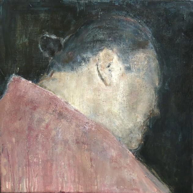 呼吸者肖像11 60×60cm 布面油画 2016年