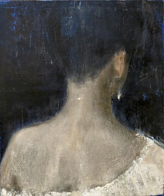 呼吸者肖像12 .1 50×60cm 布面油画 2016年 改