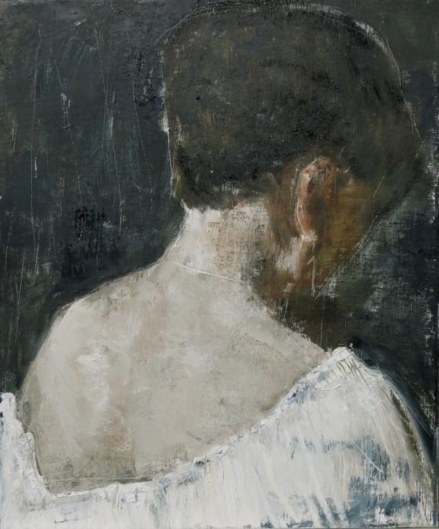 呼吸者肖像12 .3 50×60cm 布面油画 2016年