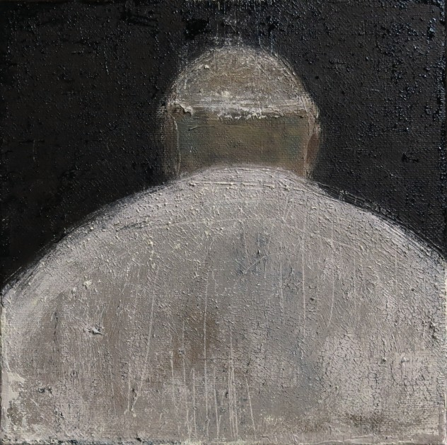 呼吸者肖像13 .1 25×25cm 布面油画 2016年