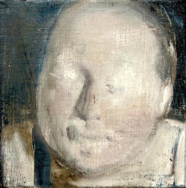 呼吸者肖像13 25×25cm 布面油画 2016年