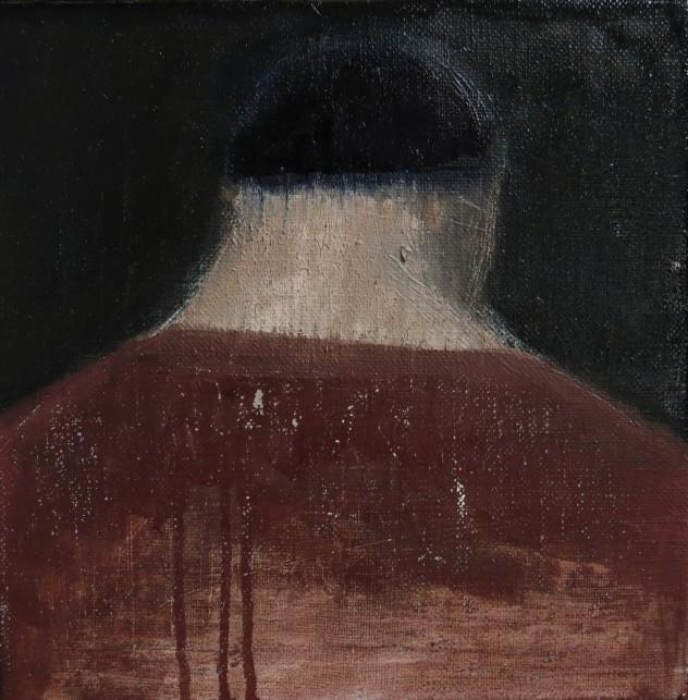呼吸者肖像13.2 25×25cm 布面油画 2016年