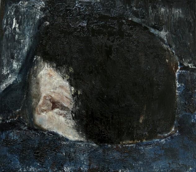 呼吸者肖像2 35×40cm 布面油画 2015年