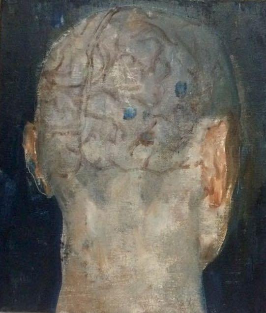 呼吸者肖像5-2 35×40cm 布面油画 2015年