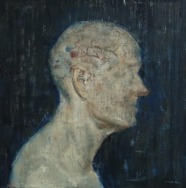呼吸者肖像5 50×50cm 布面油画 2015年