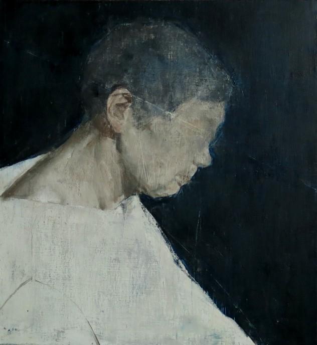 呼吸者肖像6 60×60cm 布面油画 2015年