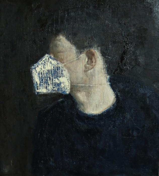 呼吸者肖像7 60×60cm 布面油画 2015年
