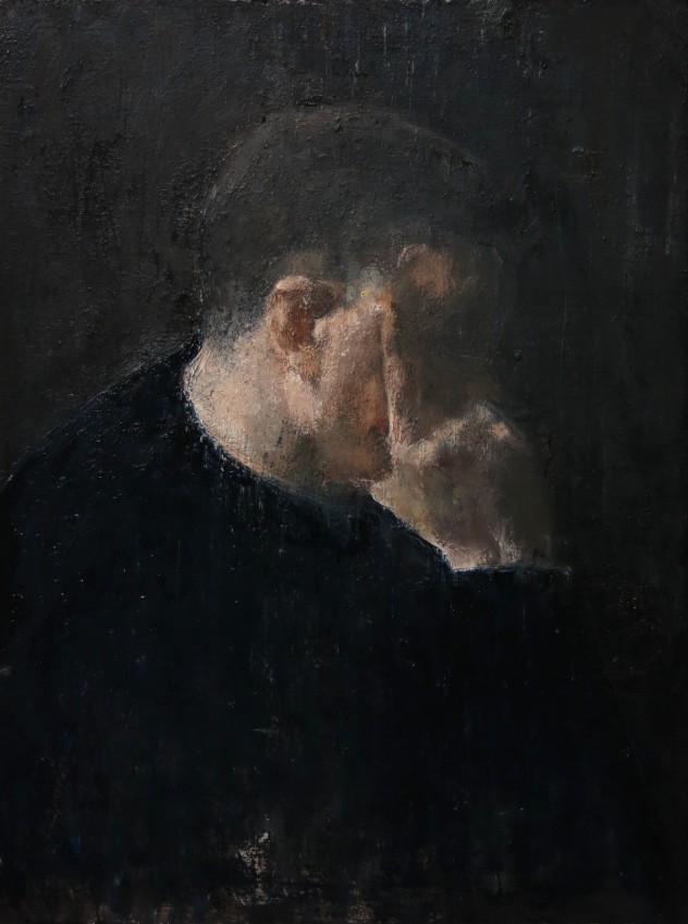 呼吸者肖像8 80×60cm 布面油画 2015年