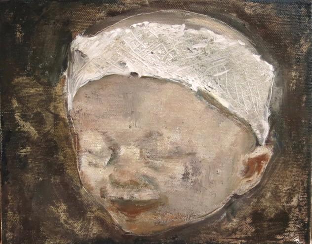 呼吸者肖像9 25×20cm 布面油画 2016年