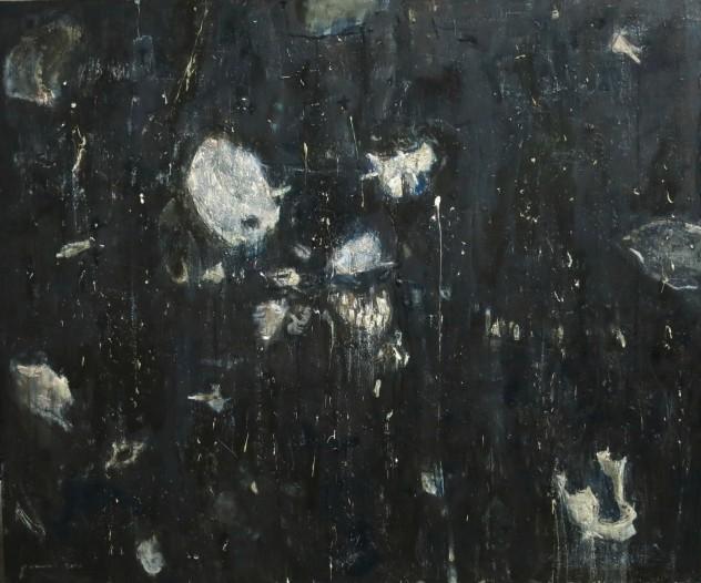 散头颅 120×100cm 2015年 布面油画