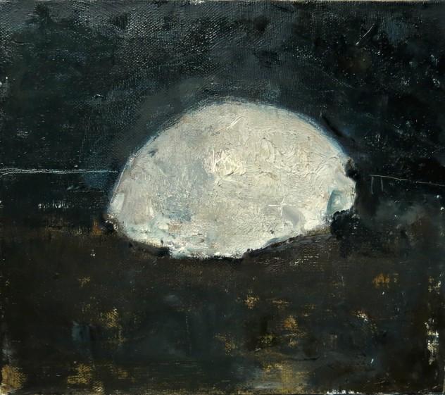 白色物5 35×40cm 2016年 布面油画