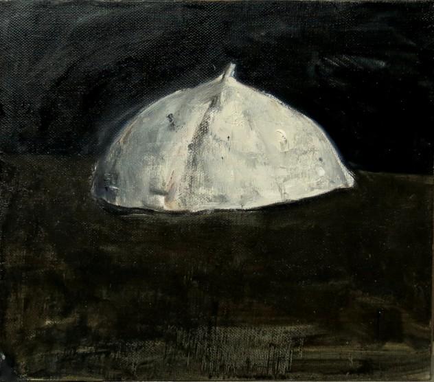 白色物6 35×40cm 2015年 布面油画