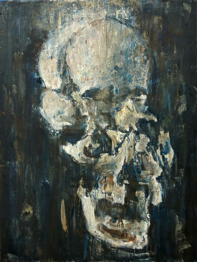 碎头颅 80×60cm 2015年 布面油画