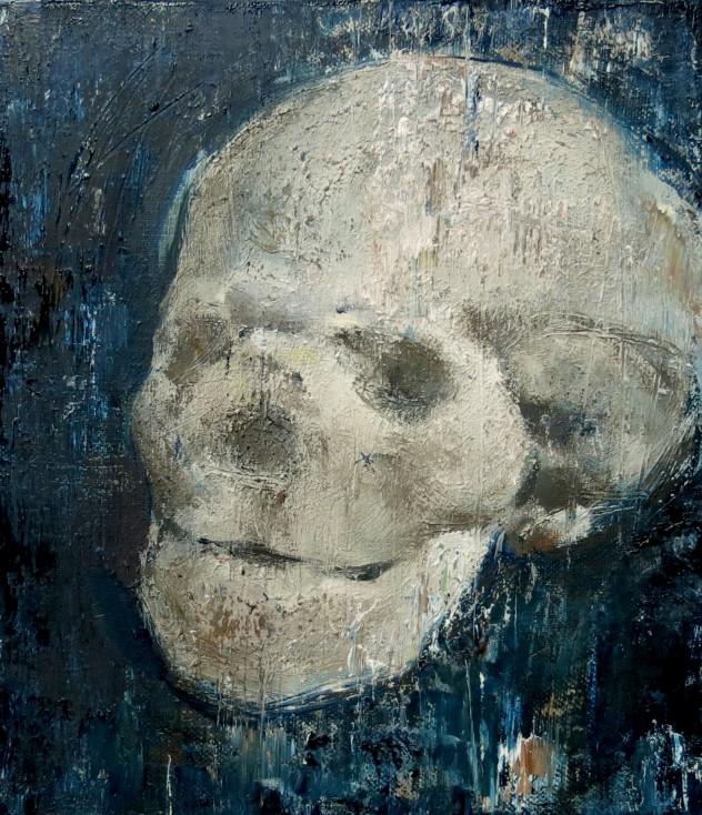 胖头颅 35×40cm 2015年 布面油画