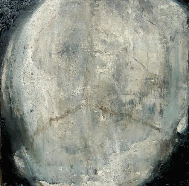 膨胀的头颅 40×40cm 2016年 布面油画