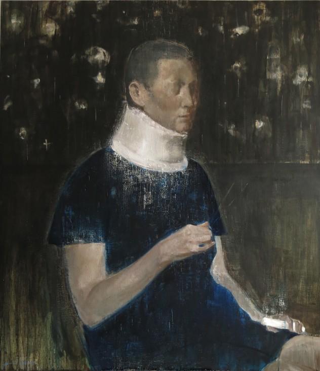 呼吸者肖像17 140×160cm 布面油画 2017年