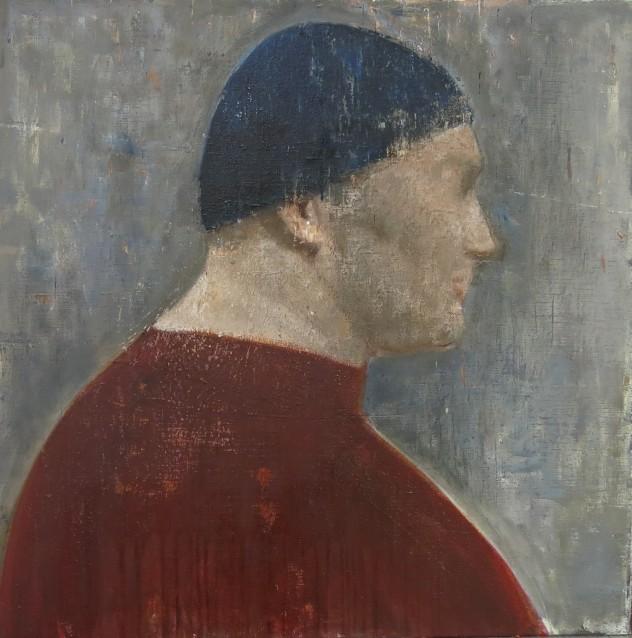呼吸者肖像18 60×60cm 布面油画 2017年