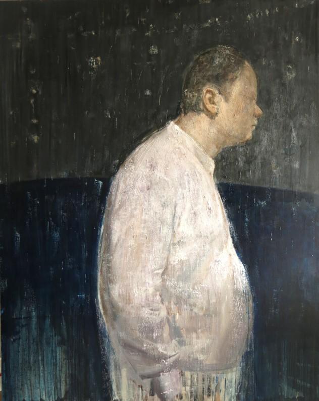 呼吸者肖像19 150×170cm 布面油画 2017年