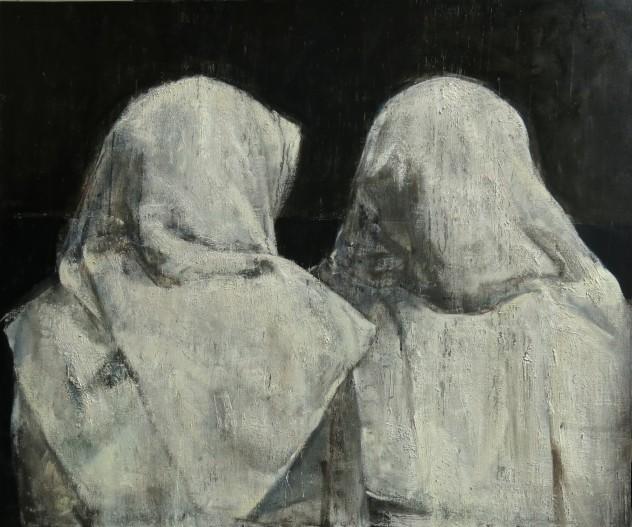 呼吸者-白色物7 120×100cm 2016年 布面油画